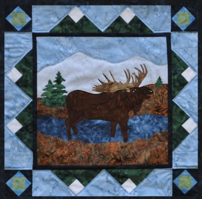 quilt forest patterns | The Rushin' Tailor : Moose in the Marsh ... : moose quilt pattern - Adamdwight.com