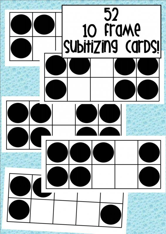 52 ten frame subitizing cards.I enlarged mine to A3 and use as ...