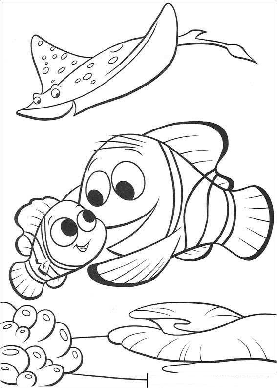 Kleurplaat Finding Nemo De Film Nemo Weer Naar School Disney