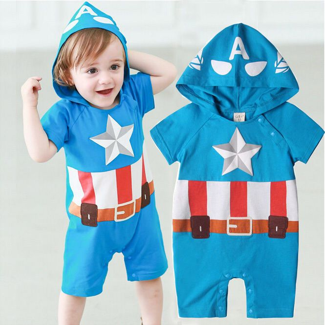 Captain America Baby Kid Toddler Boy Grow esie Bodysuit