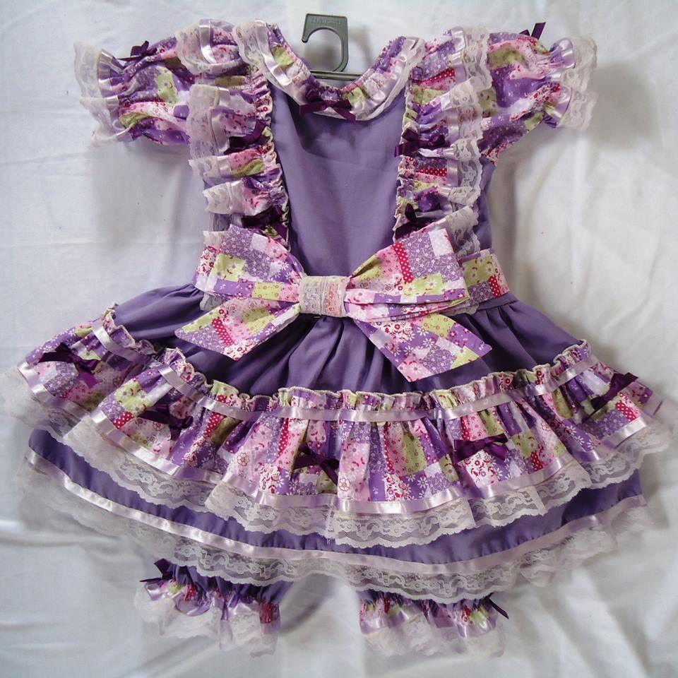 Vestido de Quadrilha Lilás | Vestiditos, Vestido infantil y Costura