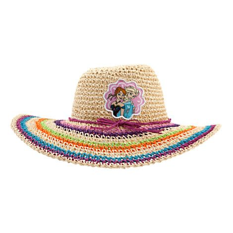 Disney Anna and Elsa Woven Sun Hat for Girls | Disney StoreAnna and Elsa Woven Sun Hat for Girls - She'll be able to keep her complexion safe on bright sunny days in Arendelle with this wide-brimmed <i>Frozen</i> hat for girls. Crafted from woven paper, the colorful design is comfortably light and airy.
