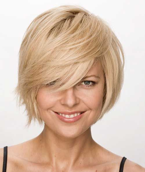 Cute Hairstyles For Short Hair With Side Bangs And Layers 2014 New