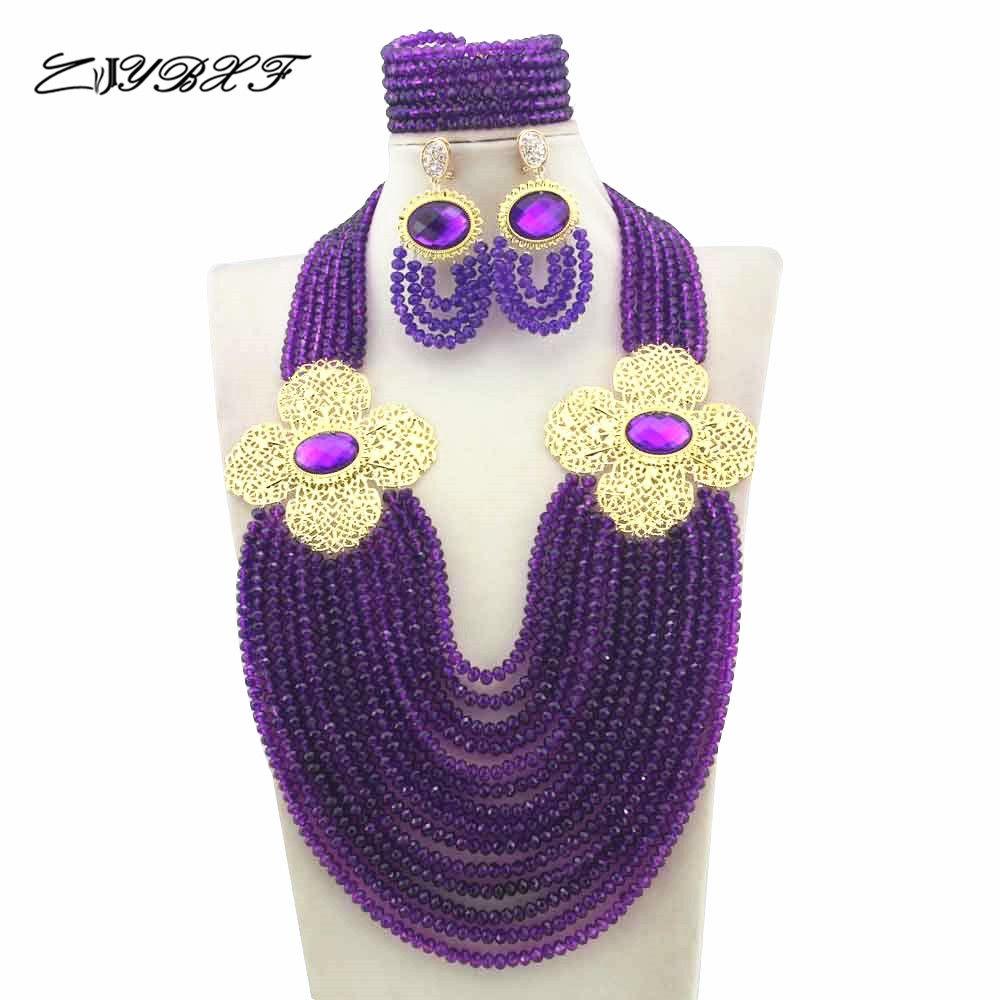 Nigerian Wedding African Beads Rushed Classic Women Crystal ...