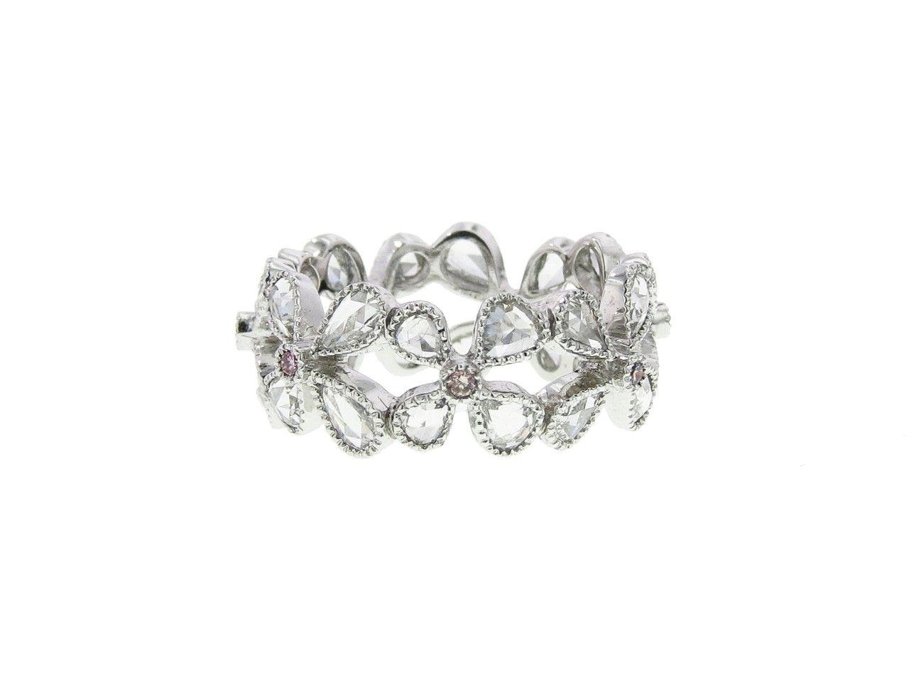 Wide Rose Cut Diamond Petal Ring   by Sethi Couture, at Ylang | 23