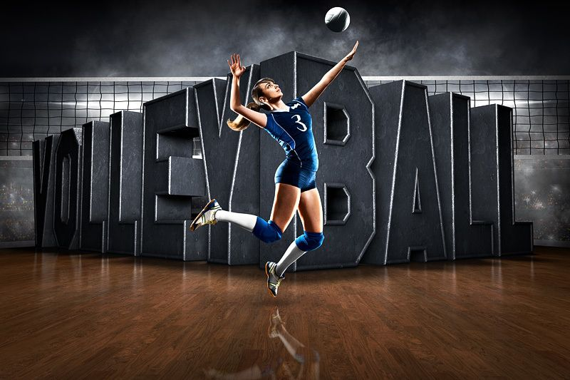 Player banner photo template - horizontal - surreal volleyball ...