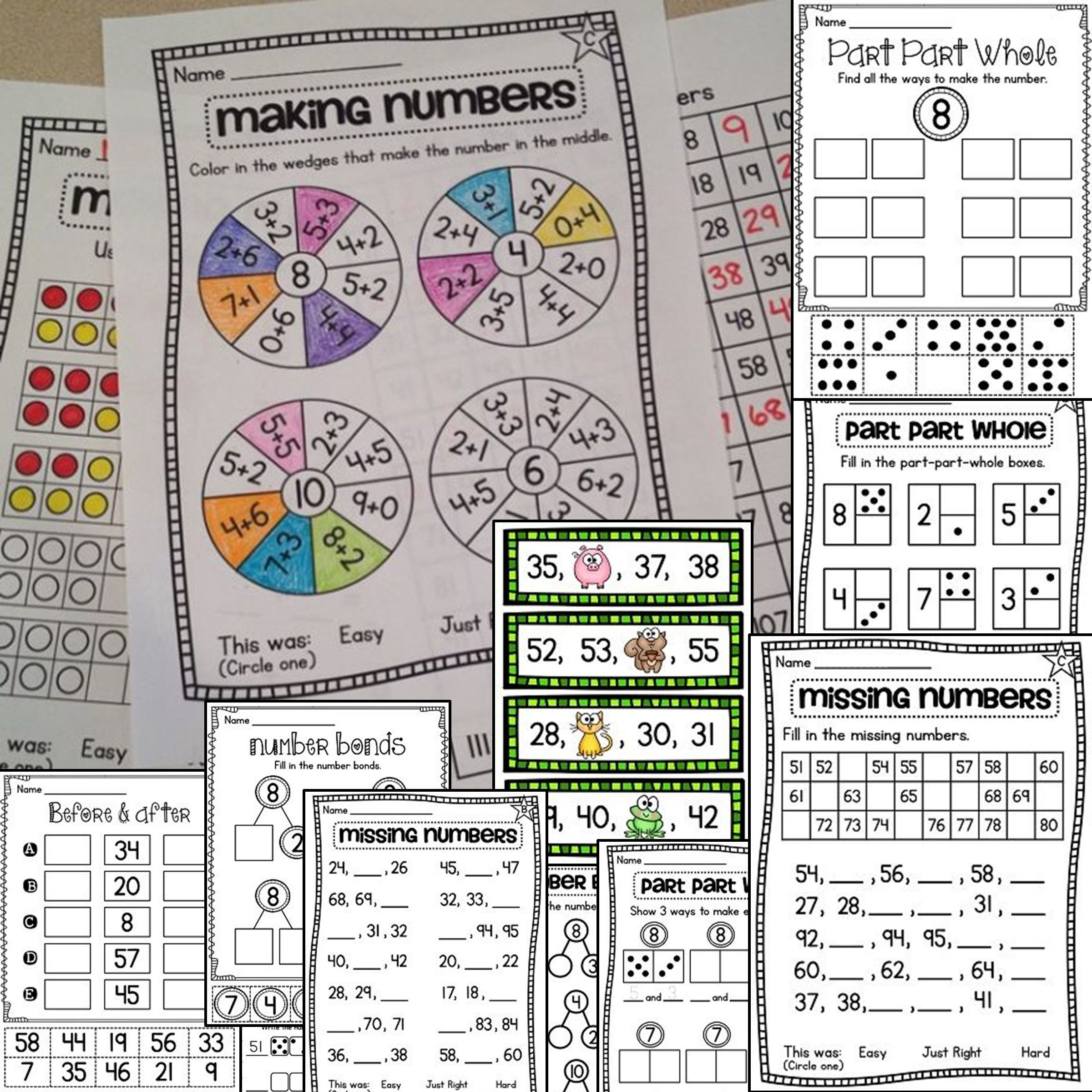 First Grade Math Units 1 9 Bundle