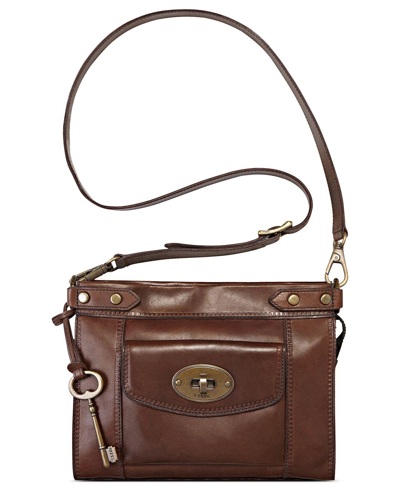 Fossil Handbag Vintage Revival Convertible Leather Crossbody Handbags Accessories