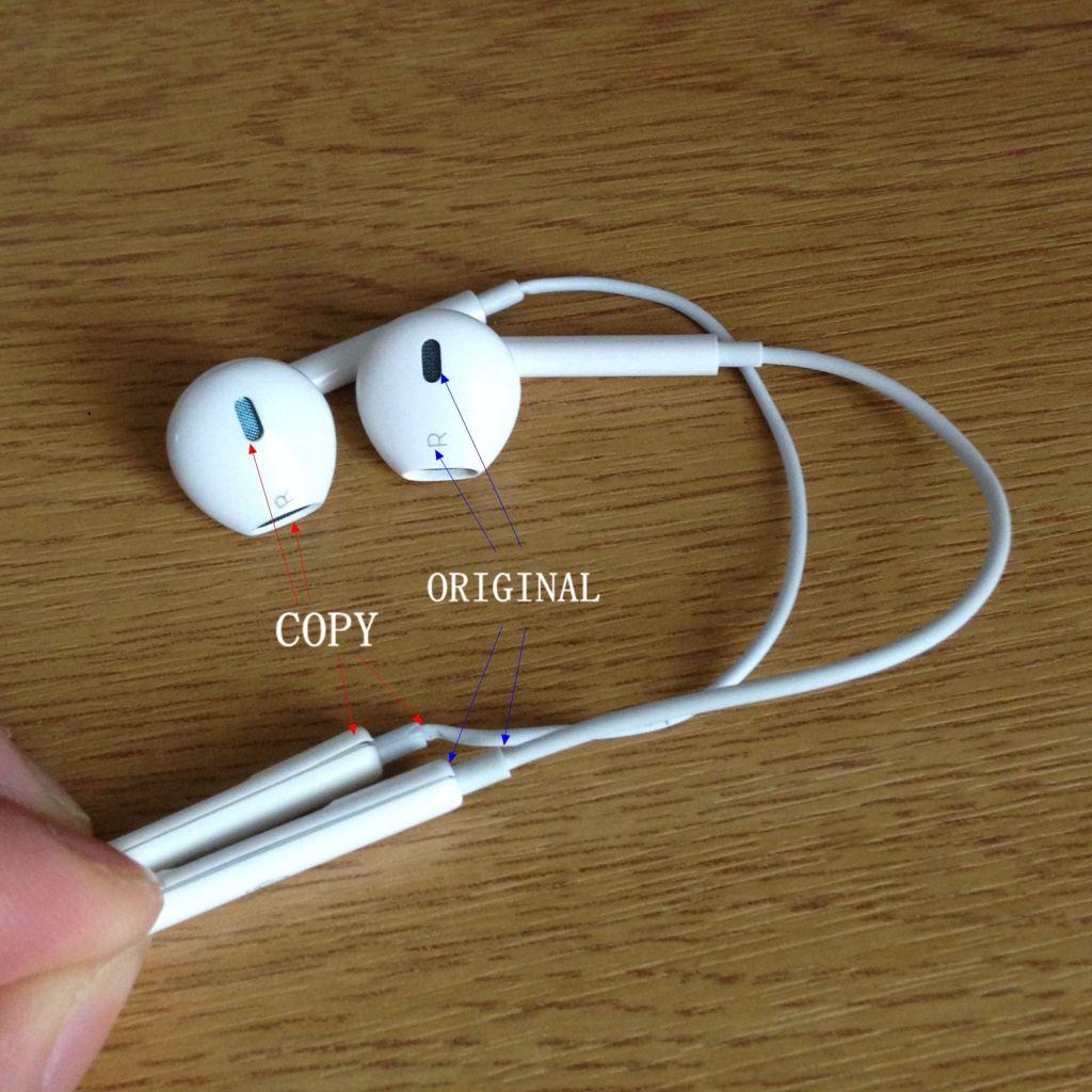Identify The Original And Fake Apple Earpods Differences Iphone Life Apple Earphones Apple Headphone