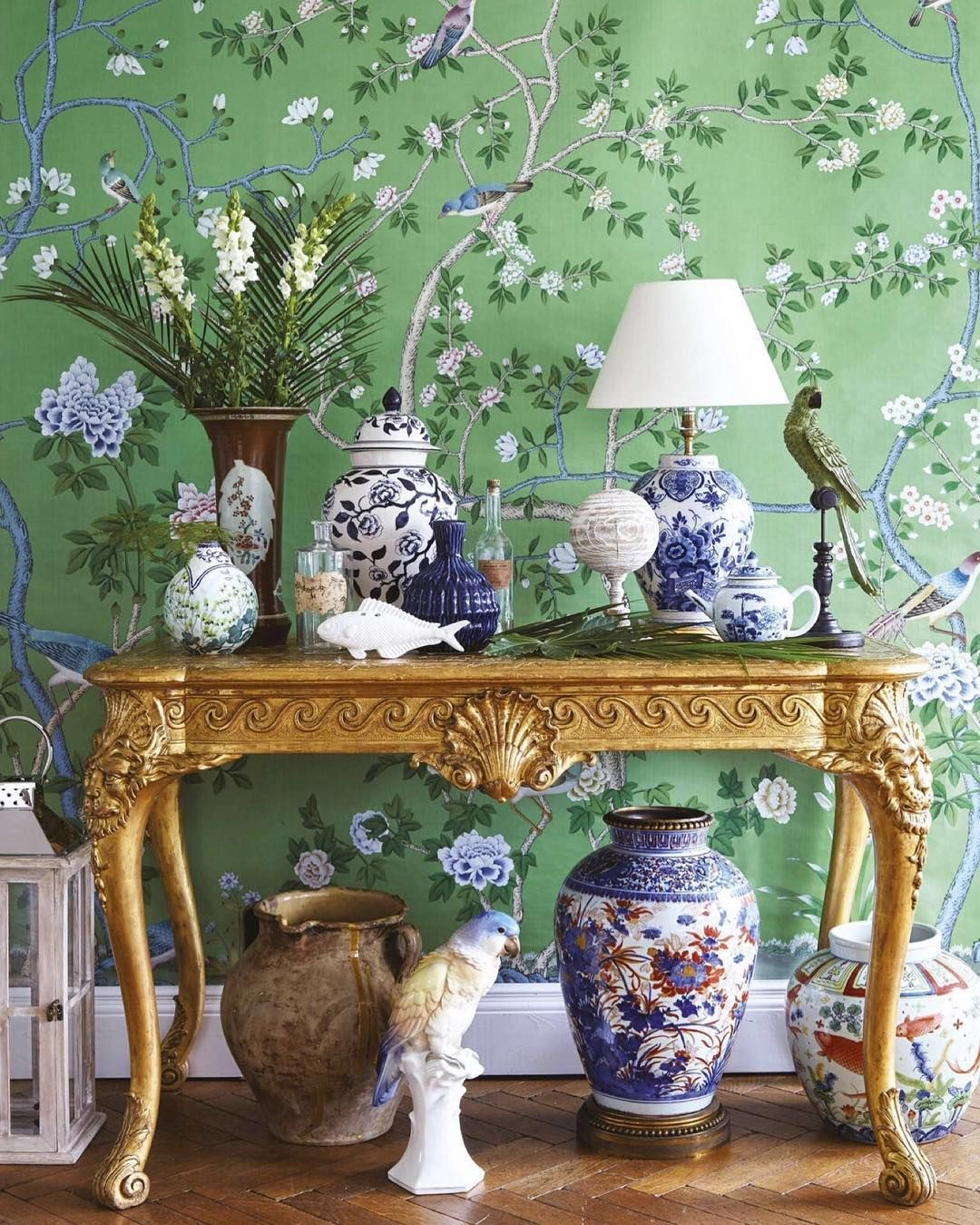 Pin By Ginny Middleton On Blue And White Chinoiserie Wallpaper