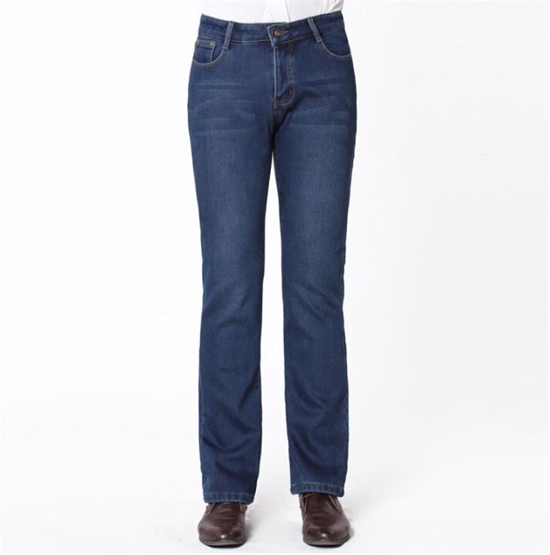56.25$  Buy here - http://ali0xm.shopchina.info/go.php?t=32610065259 - High Quality Mens Flared Jeans Slim Plus thick velvet Navy Blue Men Bell Bottoms Jeans Boot Cut Leg Men's Denim Clothing 56.25$ #buymethat