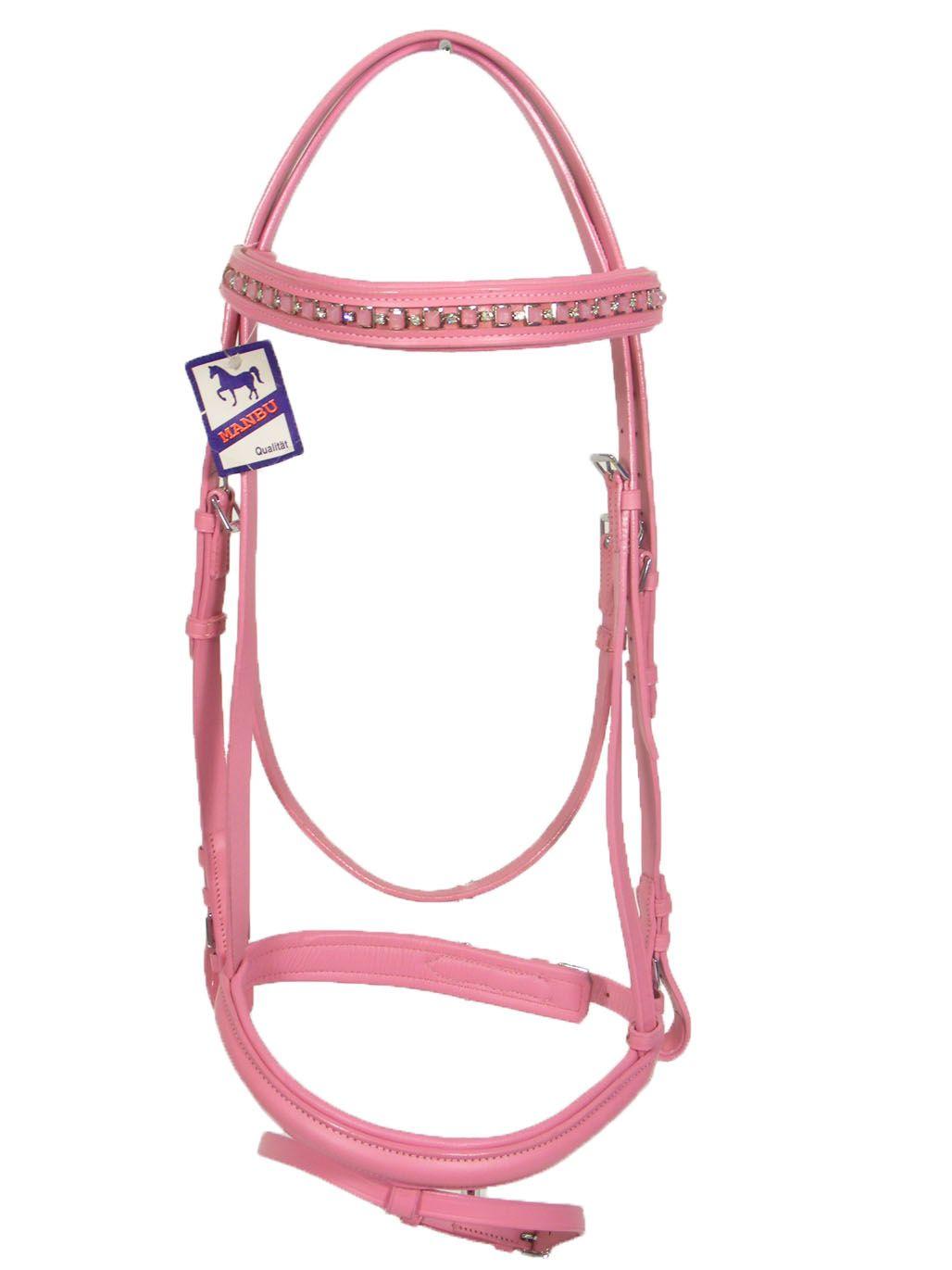 pink diamante bridle