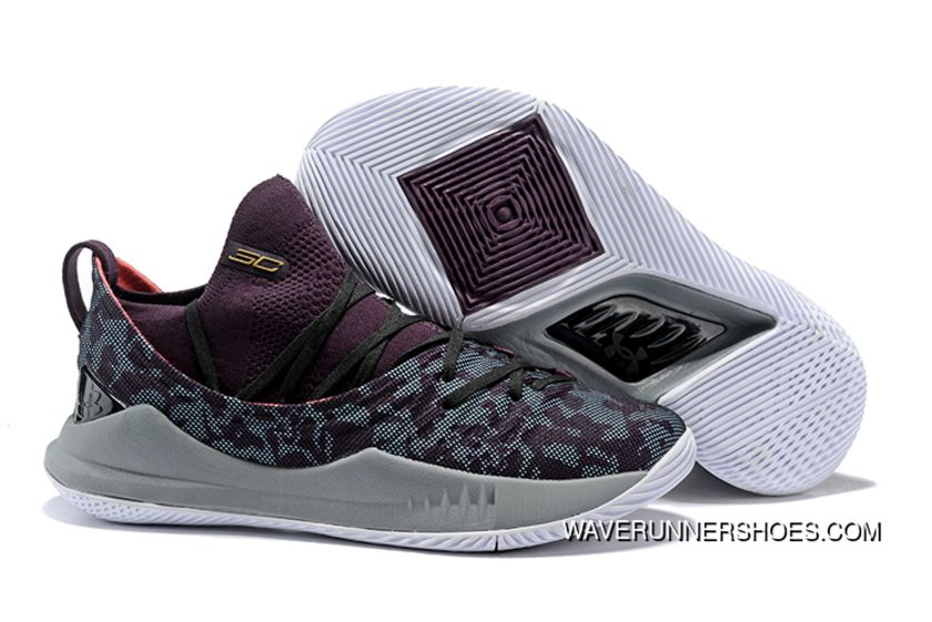5f847aa5ae9 Online Under Armour Curry 5 Black Red in 2019