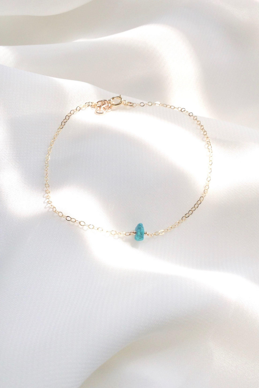Photo of Turquoise Dainty Bracelet | IB Jewelry