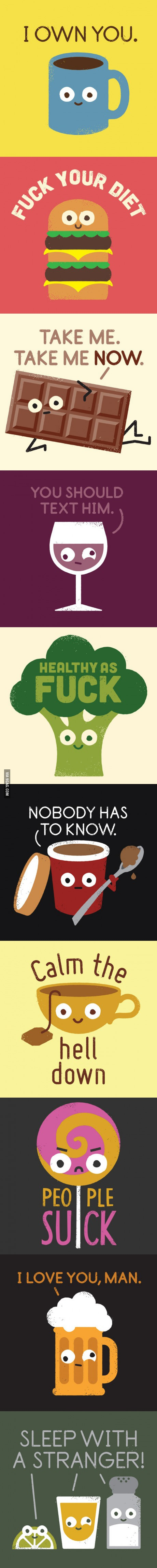 What if food told you the truth.