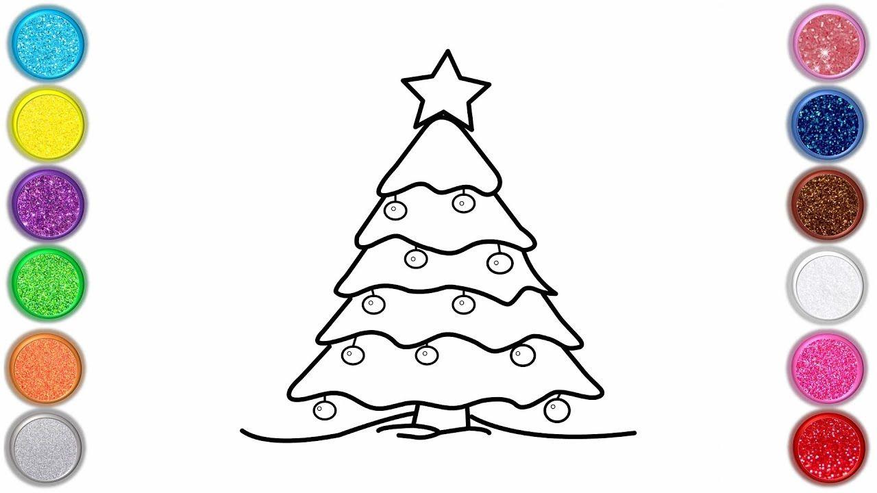 الرسم ولون شجرة عيد الميلاد للأطفال كيفية رسم شجرة عيد الميلاد الرسم