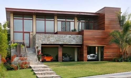 Image Result For Modern House Designs With Large Garage Underneath