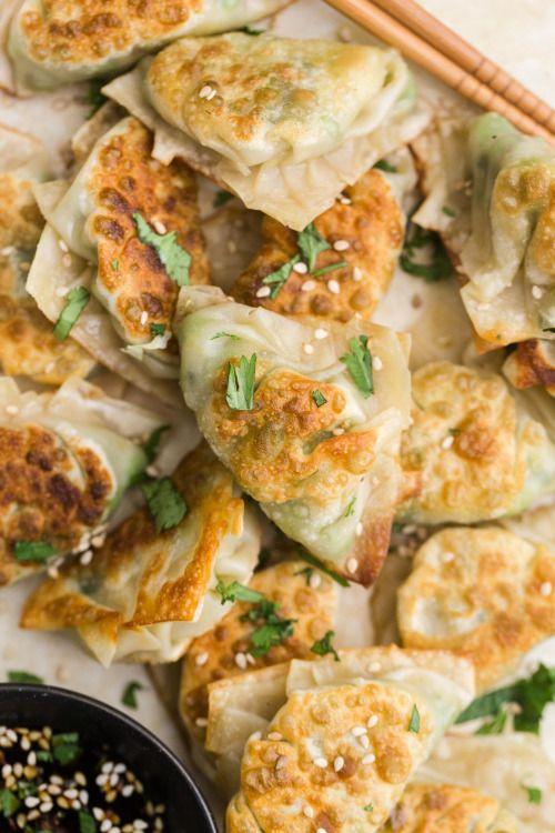 Pea Potstickers with Cabbage and GingerReally nice recipes.  Mein Blog: Alles rund um die Themen Genuss & Geschmack  Kochen Backen Braten Vorspeisen Hauptgerichte und Desserts # Hashtag