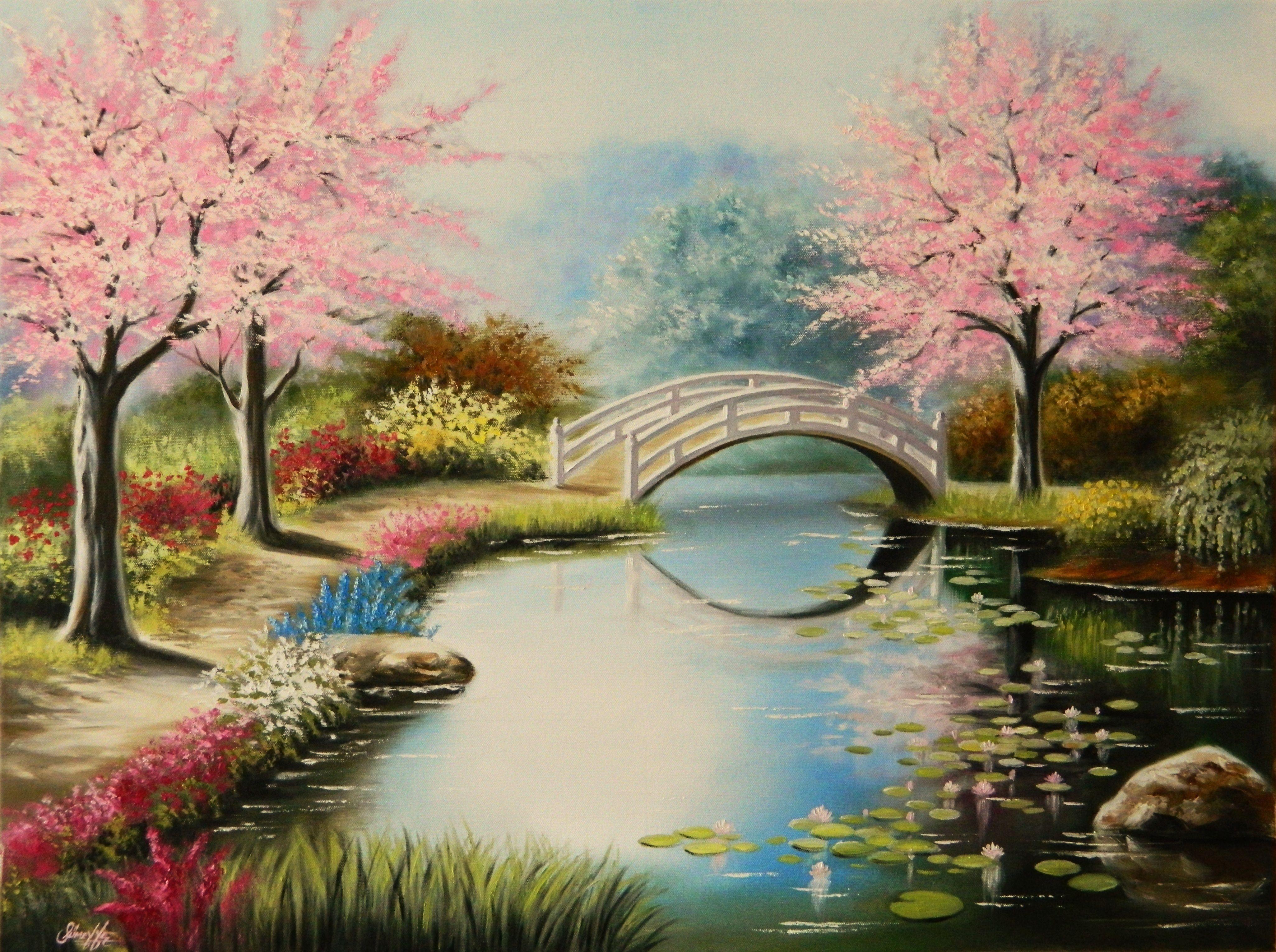 Yağlıboya Manzara Siparişi Yağlı Boya Painting Watercolor
