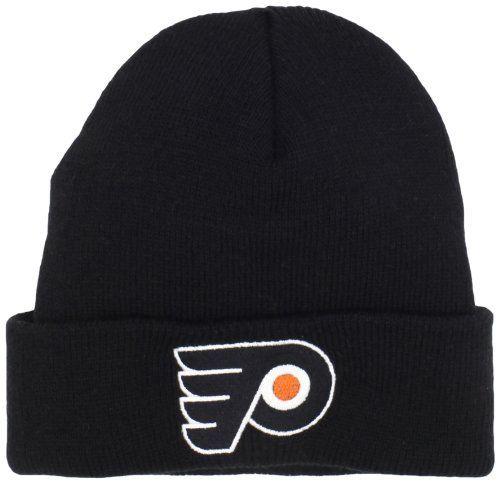 NHL Philadelphia Flyers Youth Basic Logo Cuffed Knit Hat,One Size,Black adidas. $7.33