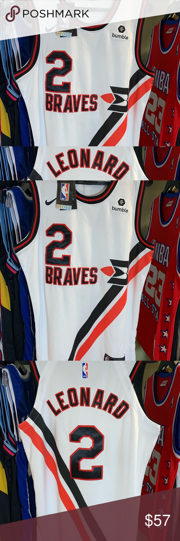Kawhi Leonard Buffalo Braves Throwback Jersey Los Angeles Clippers New Classic Edition Jersey Vintage Look To When They Used To Braves Jersey Nike Shirts