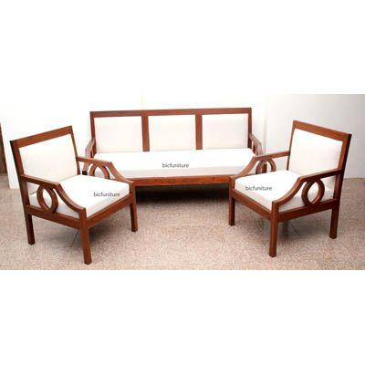 Contemporary Wooden Sofa Set In Teakwood 1