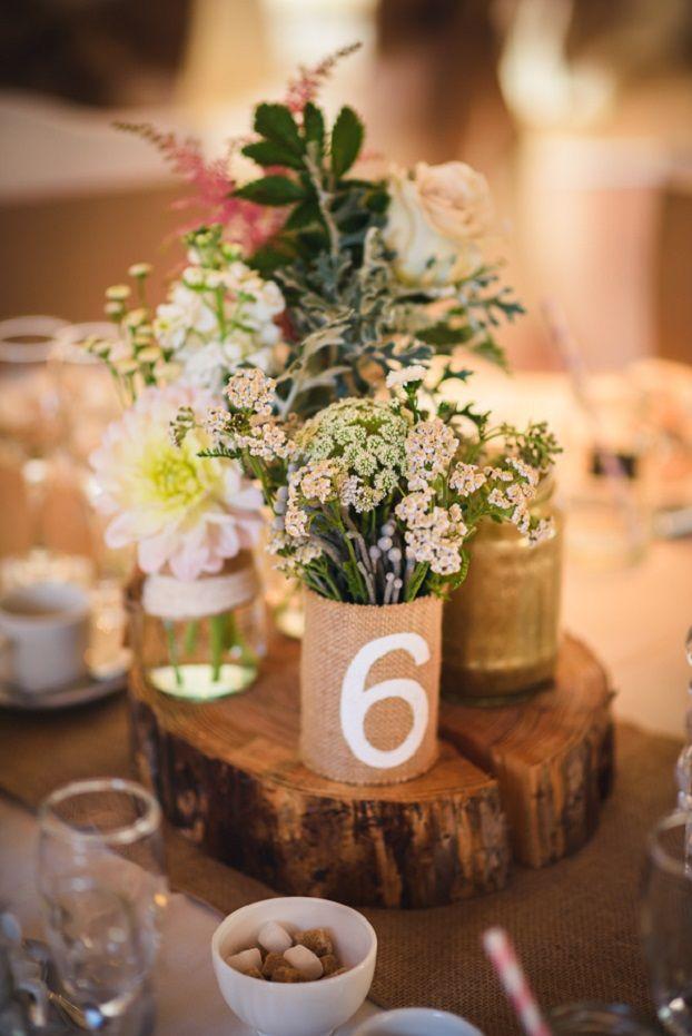 Shabby chic rustic wedding centerpiece - Fab Mood | Wedding Colours ...