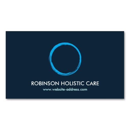 Holistic Naturopath Healer Zen Logo Ii Business Card  Healer