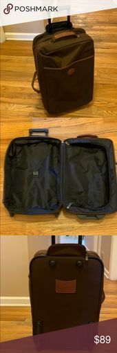 Photo of longchamp luggage roll bag carry-on Longchamp luggage in bro…