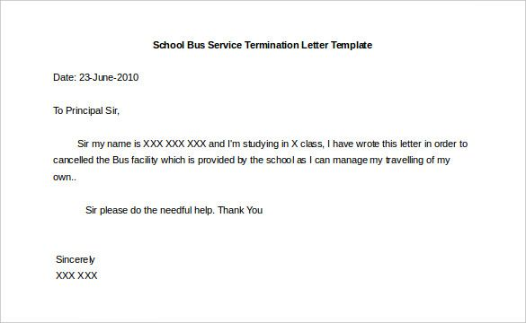 sample letter business closure government agency cover affidavit - business termination letter