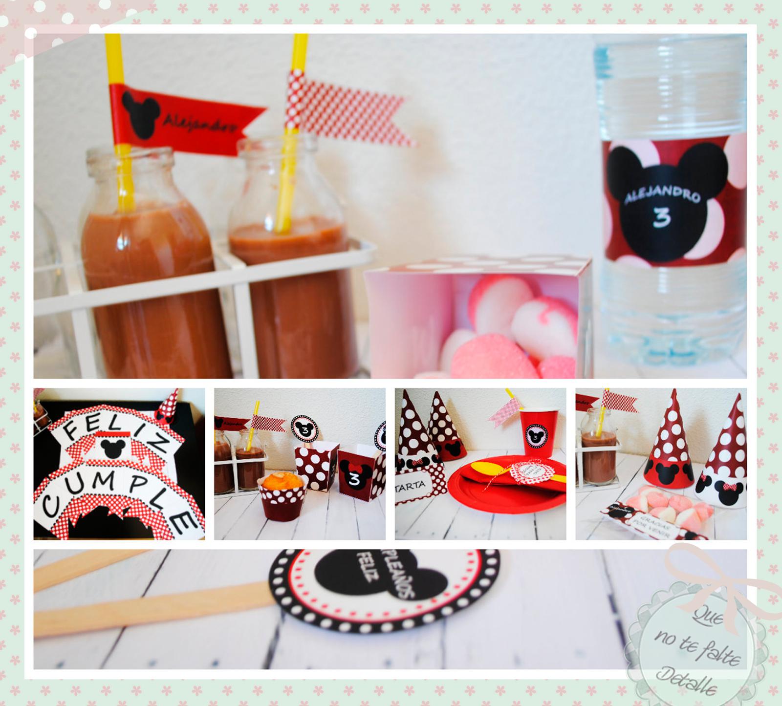 Montaje kit imprimible mickey fiesta mickey mousse 39 s - Mousse decoration ...
