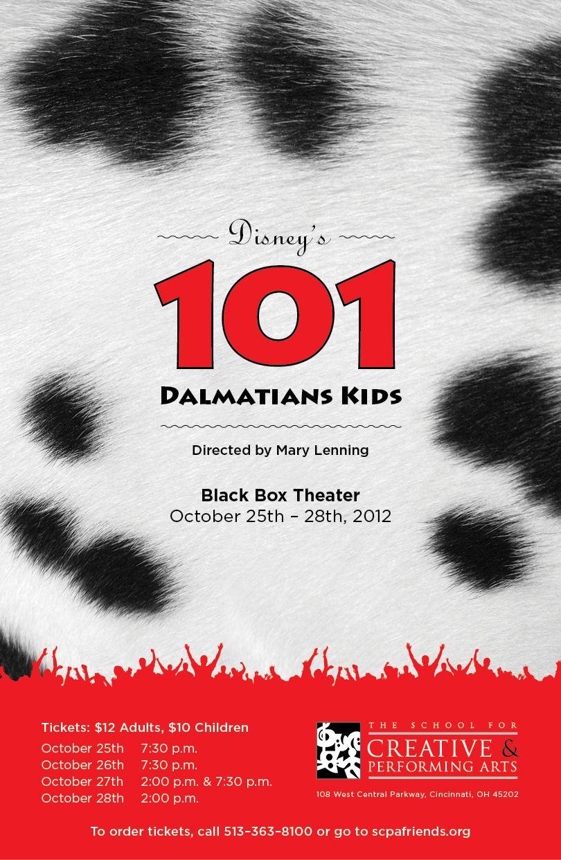 Poster design 101 - 101 Dalmatians Kids Show Poster Design