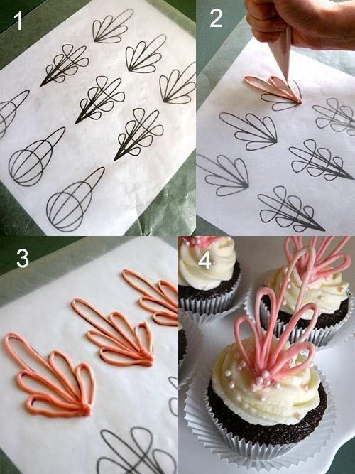 Decoraciones sencillas para Cupcakes