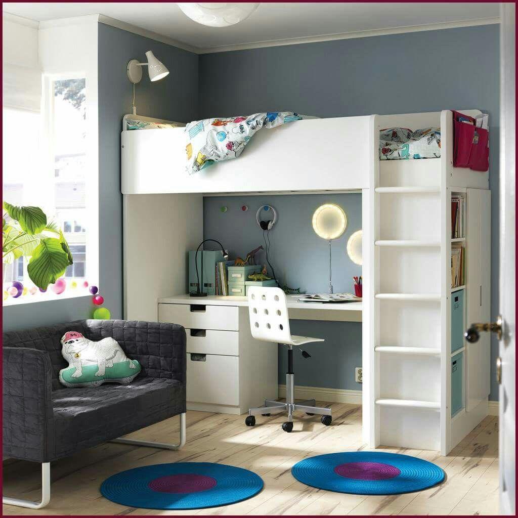 Bed unit Ikea loft bed, Kids loft beds, White loft bed