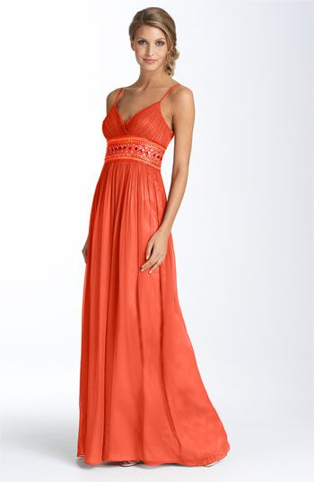 ae7b08631 Adrianna Papell Beaded Chiffon Gown