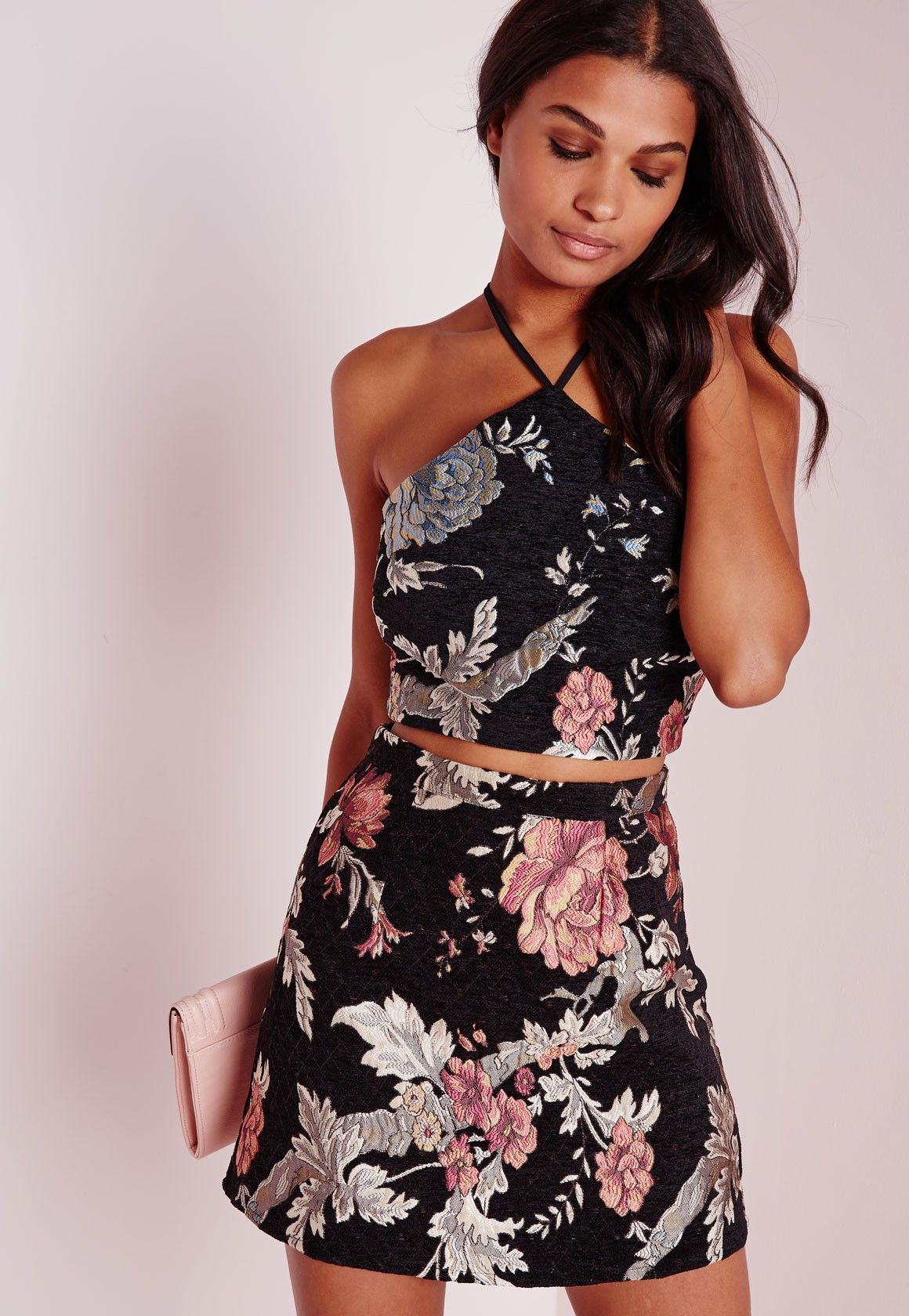 f82ee6e6ee651 Missguided - Oriental Jacquard Crop Top