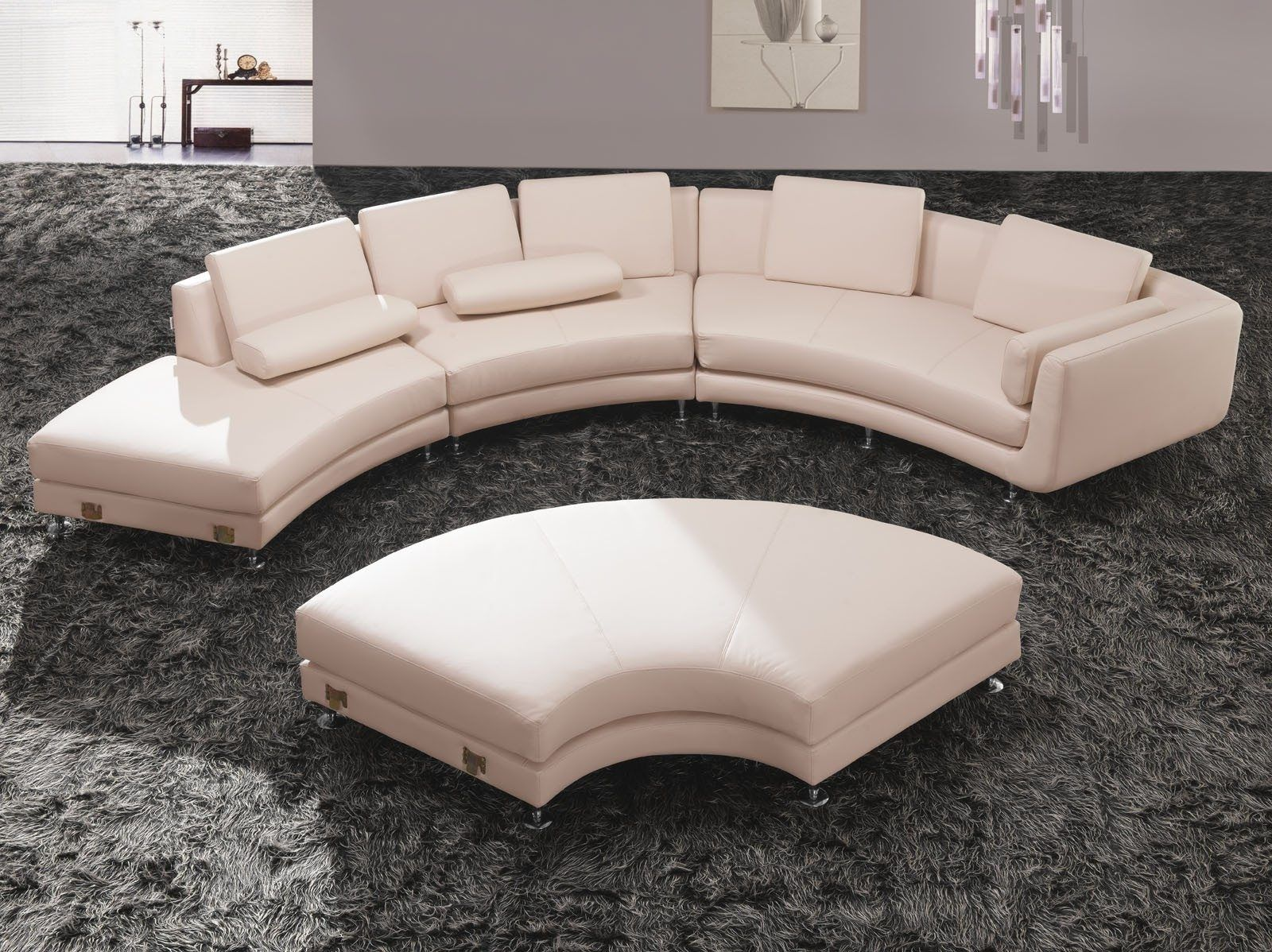 Luxury Living Room Sofas Design With Curved Couch Curved Leather