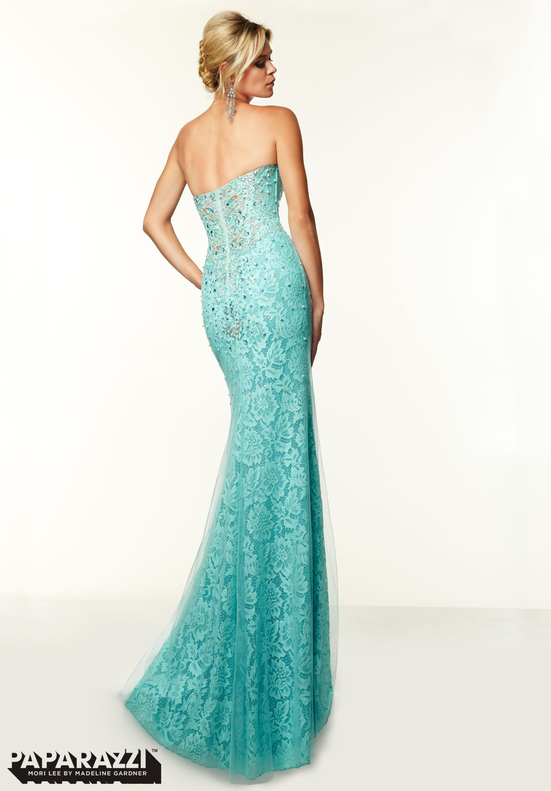 d069291803 Prom Dresses   Gowns Style 97012  Beaded Tulle over Lace http   www