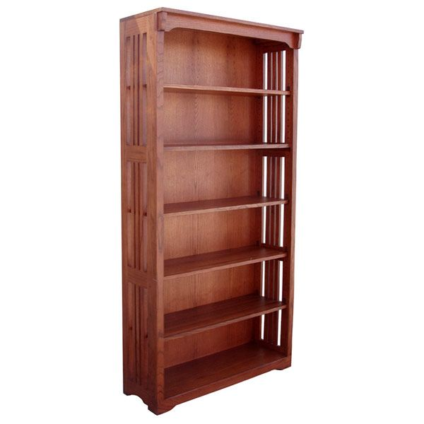 36 X 72 Solid Oak Mission Spindle Bookcases Dimensions 36w X 72h X 12d Solid Oak Bookcase Wood Bookcase Oak Bookcase