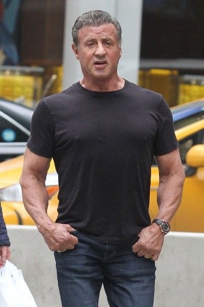 Sylvester Stallone and His Daughter Sistine Step Out in New York 2017.5.1