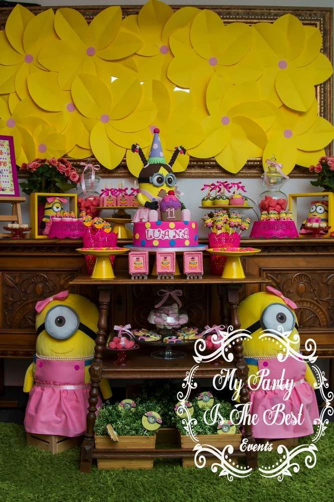 What A Fantastic Minion Inspired Birthday Party For Little Girl I Love This See More Ideas And Share Yours At CatchMyParty