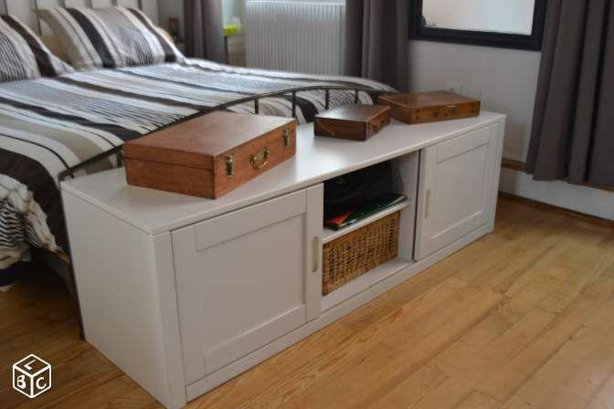 Coffre Bout De Lit Blanc 140 Cm Placard Rangement Ameublement Rhone Leboncoin Fr Bedroom Styles Sweet Home Home