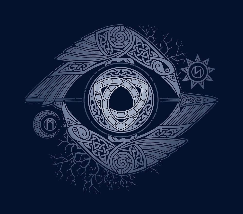 Odins eye by raidho redbubble tattoo pinterest eye odins eye to comprehend the mystery of the runes odin brought himself in sacrifice and nine days and nights hung on the trunk of yggdrassil biocorpaavc
