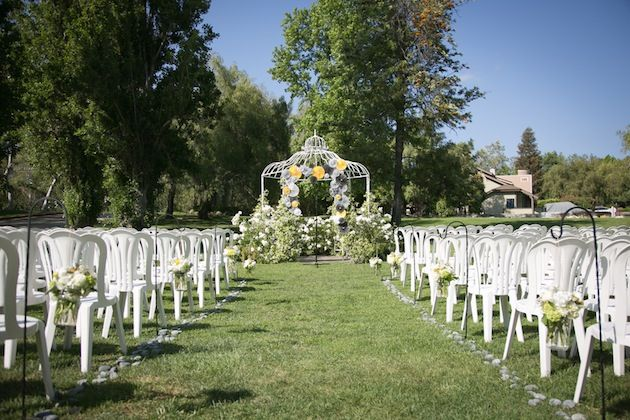 Yellow And Grey Wedding Filled With Pin Wheels - Bridal Musings
