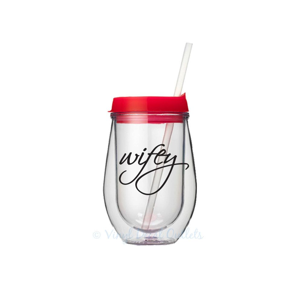 Wifey Wine Tumbler Wife Gift Honeymoon Newlywed For Anniversary Gifts Her Engagement