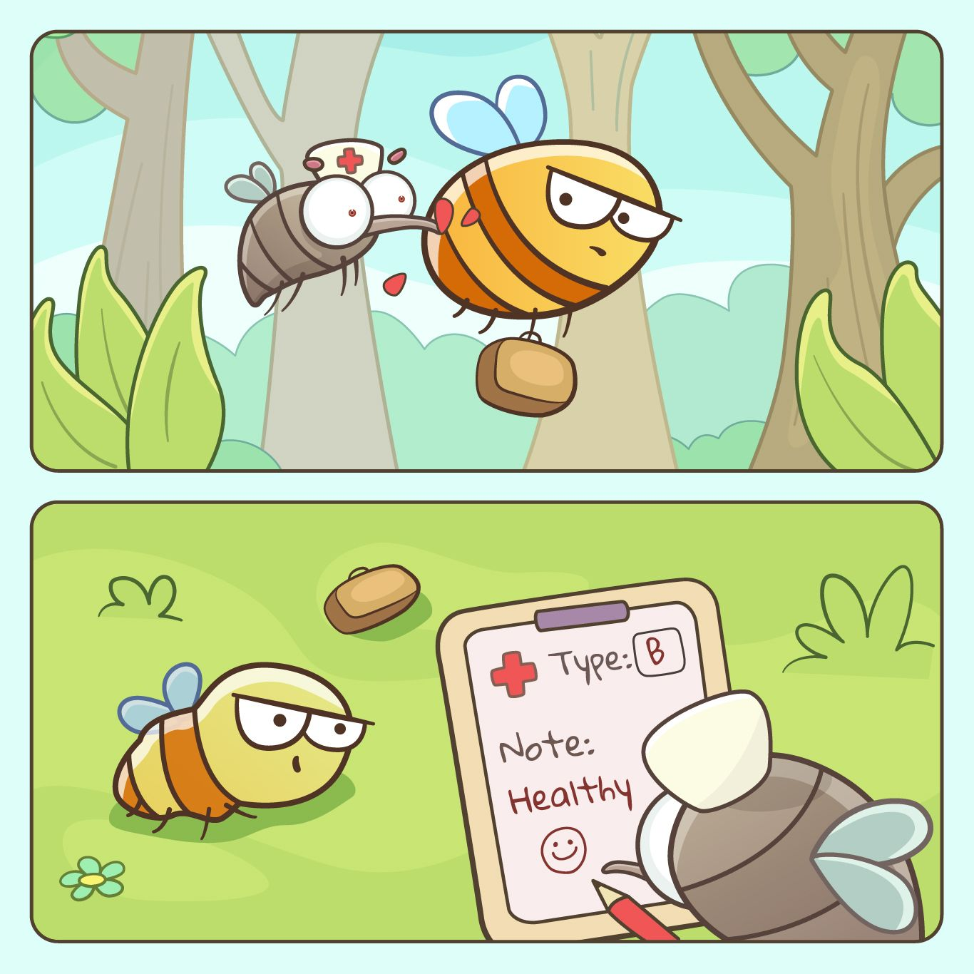 #comic #cutecomics #cutecomic #animalcomics #animalcomic #naturecomics #cuteandfunny #sillyanimals #funnycomics #webcomics #cutecartoons #comicpage #digitalart #energyvampires #leeches #mosquitos #noenergy #bloodtest #healthcheckup #healthcheck