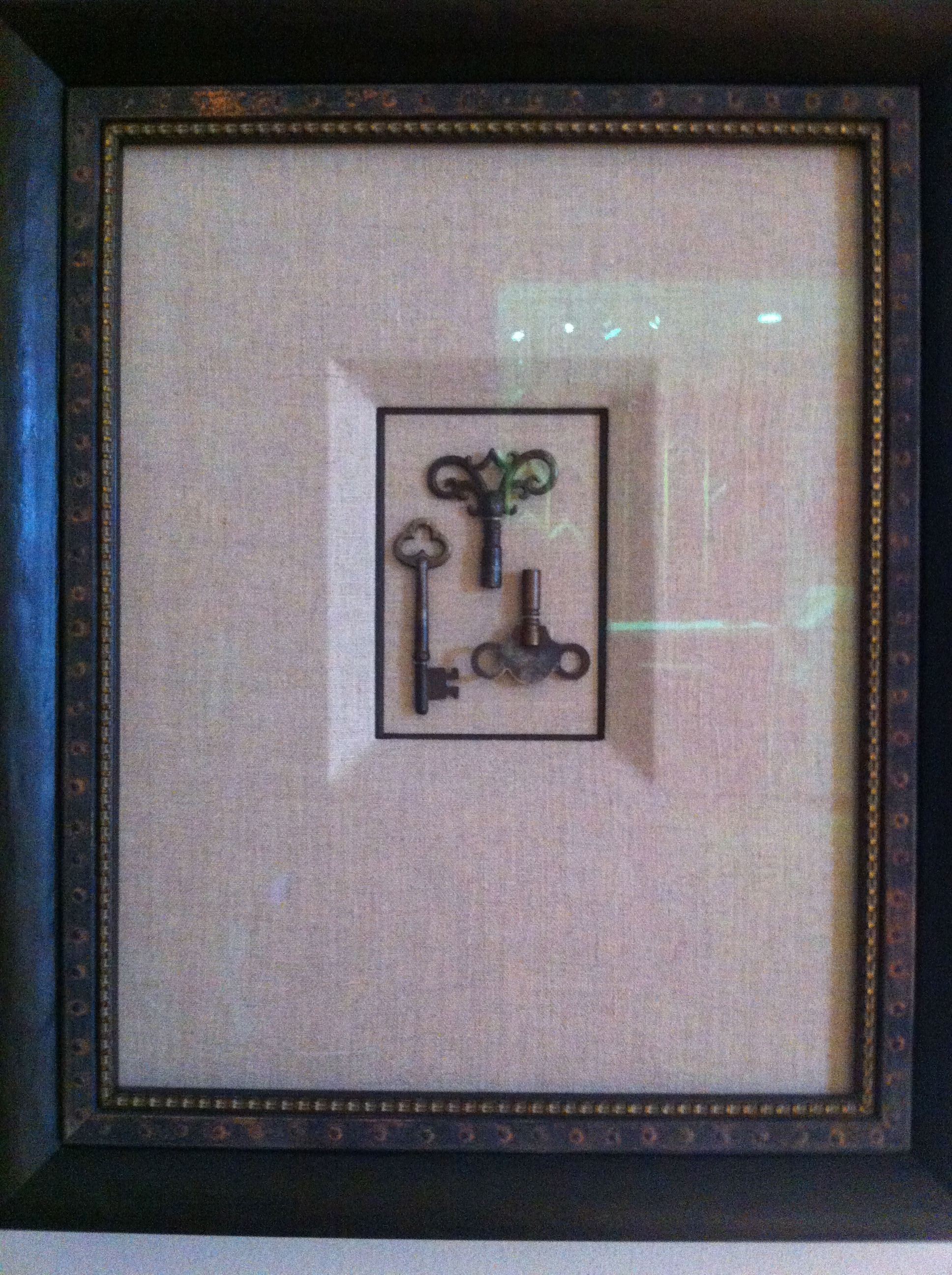Antique Keys - beautiful mat ... | Framing - Matting | Pinterest