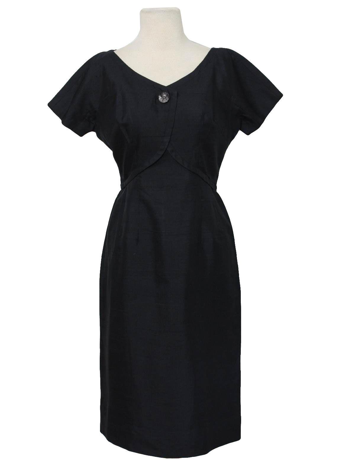 1950\'s Silk Semi-Formal New Look Cocktail Dress | Mid length ...