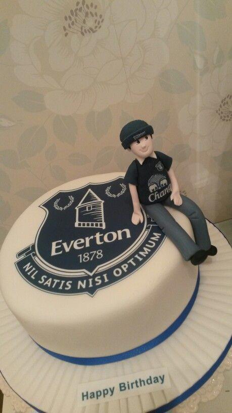 Everton birthday cake Food craft Pinterest Birthday cakes