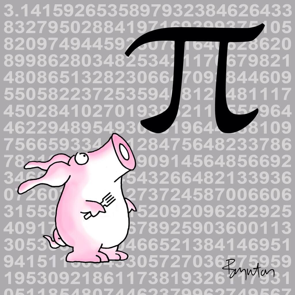 Sandra Boynton: 3.14.15! Once-in-a-century Pi Day! But there will be some who are disappointed.
